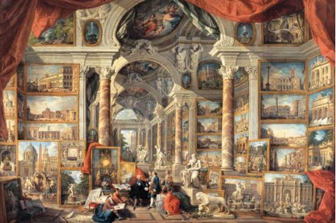 RAVENSBURGER Puzzle  5000 dílků - Panini, Pohled na moderní Řím Puzzle