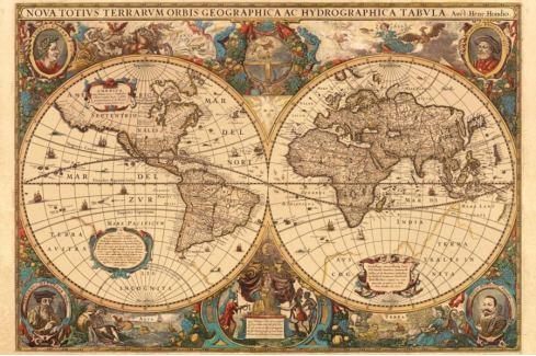 RAVENSBURGER Puzzle  5000 dílků - Historická mapa r.1630 Puzzle