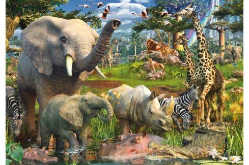 RAVENSBURGER Puzzle  18000 dílků - D.Penfound, Zvířata u zdroje vody Puzzle