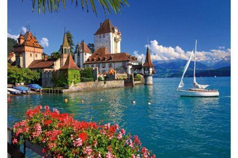 RAVENSBURGER Puzzle  1000 dílků - Jezero Thun, Bern Puzzle