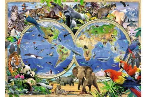 RAVENSBURGER Puzzle  1000 dílků - H.Robinson, Svět divokých zvířat Puzzle