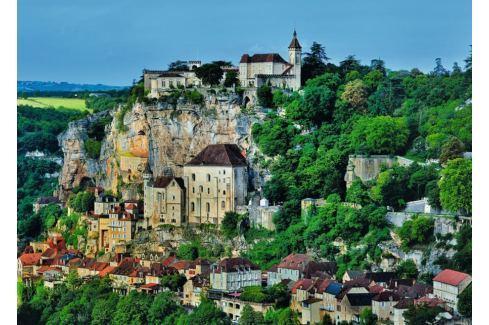 RAVENSBURGER Puzzle  1000 dílků - Vesnice na úbočí hory Puzzle