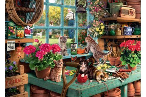 RAVENSBURGER Puzzle  19552 Neposedná koťata 1000 dílků Puzzle