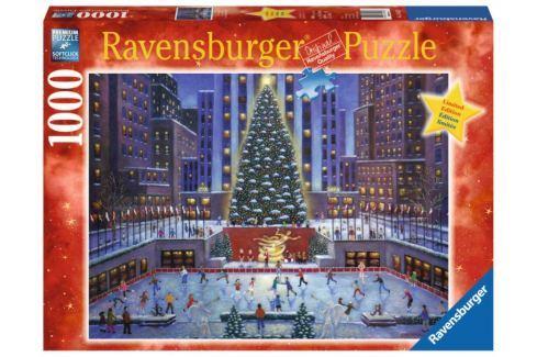 RAVENSBURGER Puzzle Rockefellerovo centrum o Vánocích 1000 dílků Puzzle