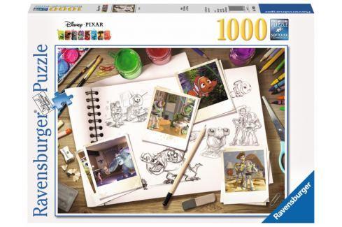 RAVENSBURGER Puzzle Nákresy Disney Pixar 1000 dílků Puzzle