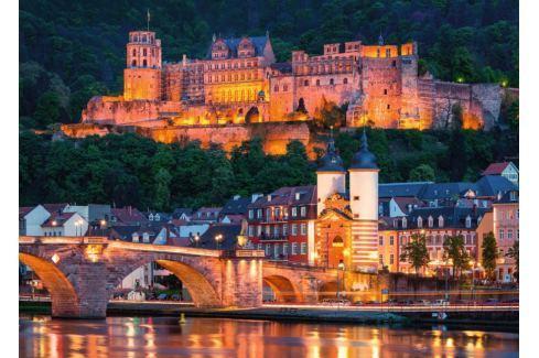 RAVENSBURGER Puzzle  1000 dílků - Večerní Heidelberg, Německo Puzzle