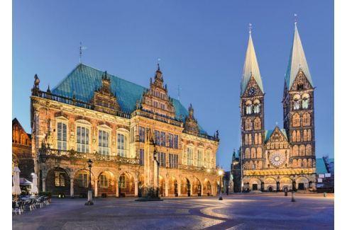 RAVENSBURGER Puzzle Noční radnice v Brémách 1000 dílků Puzzle