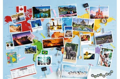 RAVENSBURGER Puzzle Cestovní vzpomínky 1000 dílků Puzzle