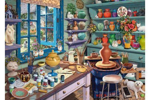 RAVENSBURGER Puzzle Koutek s keramikou 1000 dílků Puzzle