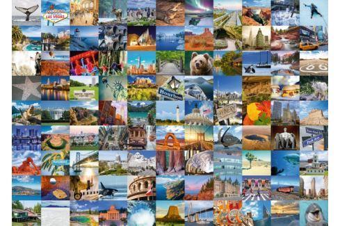 RAVENSBURGER Puzzle 99 nádherných míst v USA a Kanadě 1000 dílků Puzzle