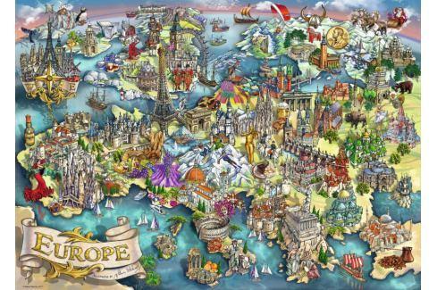 RAVENSBURGER Puzzle Divy Evropy 1000 dílků Puzzle