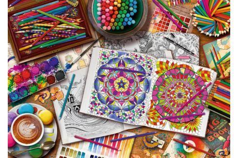 RAVENSBURGER Puzzle Umělcův stůl 1000 dílků Puzzle
