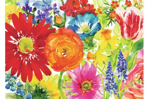 RAVENSBURGER Puzzle Bohaté květy 1000 dílků Puzzle