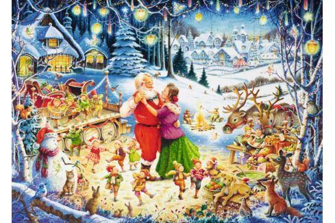 RAVENSBURGER Puzzle Vánoční večírek 1000 dílků Puzzle