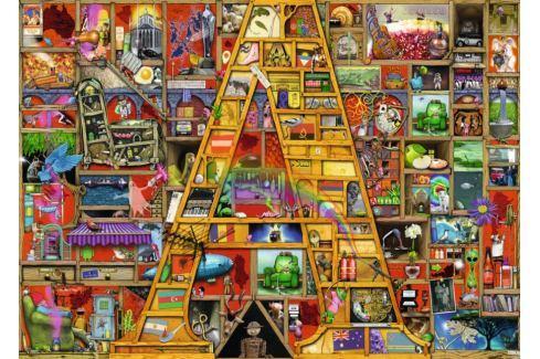 RAVENSBURGER Puzzle Úžasná abeceda - písmeno A 1000 dílků Puzzle
