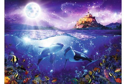 RAVENSBURGER Puzzle Velryby při úplňku 1000 dílků Puzzle