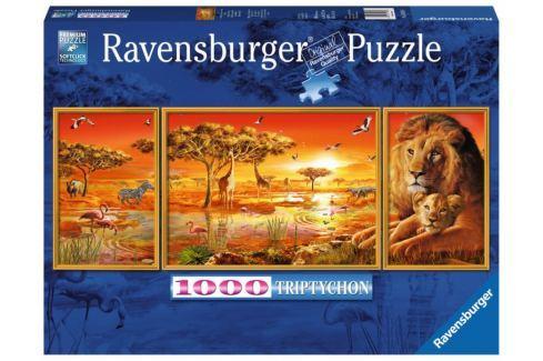 RAVENSBURGER Puzzle Triptych: Krásy Afriky 1000 dílků Puzzle