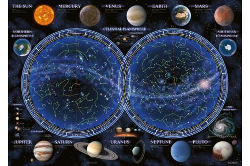 RAVENSBURGER Puzzle Mapa souhvězdí 1000 dílků Puzzle