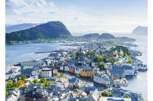 RAVENSBURGER Puzzle ?lesund, Norsko 1000 dílků Puzzle