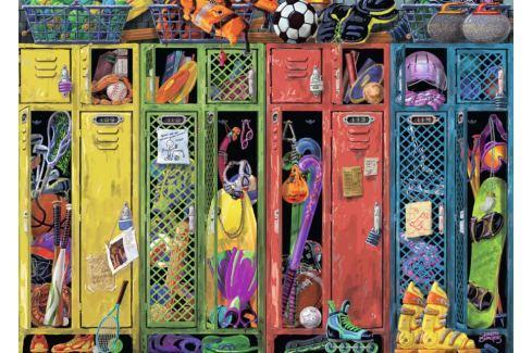RAVENSBURGER Puzzle Šatní skříňky 1000 dílků Puzzle