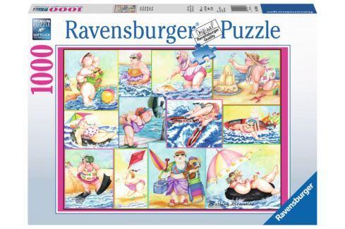 RAVENSBURGER Puzzle Koupající se krásky 1000 dílků Puzzle