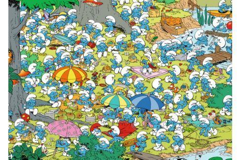 RAVENSBURGER Puzzle Šmoulové: Piknik v parku 1000 dílků Puzzle