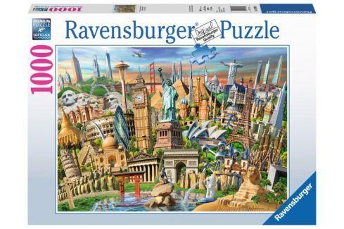 RAVENSBURGER Puzzle Světové pamětihodnosti 1000 dílků Puzzle