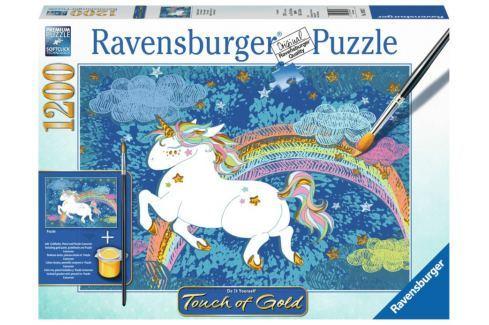 RAVENSBURGER Puzzle Touch of Gold Šťastný jednorožec 1200 dílků Puzzle