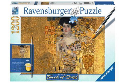 RAVENSBURGER Puzzle Touch of Gold Zlatá Adéla - Portrét Adele Bloch-Bauer 1200 d Puzzle