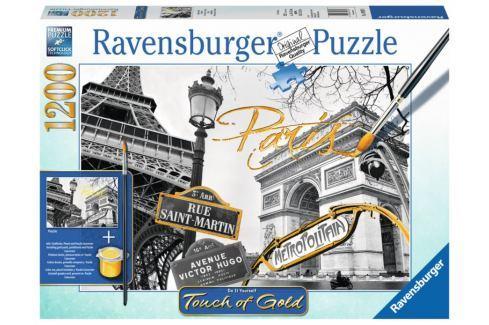 RAVENSBURGER Puzzle Touch of Gold Zlatá Paříž 1200 dílků Puzzle