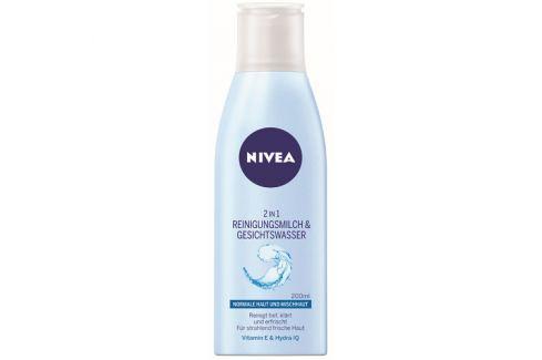 Nivea Čisticí pleťové mléko a voda 2 v 1 pro normální až smíšenou pleť Aqua Effect 200 ml Přípravky na čištění pleti