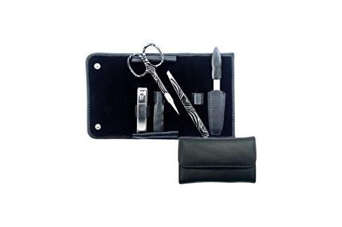 Credo Solingen Luxusní 4 dílná manikúra v černém koženém pouzdře Black 4 Přípravky pro péči o ruce a nehty