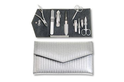 Credo Solingen Luxusní 7dílná manikúra ve stříbrném pouzdře Carbon 7 Přípravky pro péči o ruce a nehty