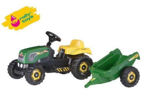 ROLLY TOYS RollyToys Šlapací traktor Rolly Kid s vlečkou - zelený Odrážedla