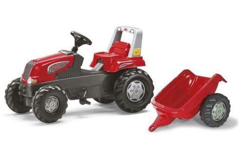 ROLLY TOYS Šlapací traktor Rolly Junior červený s vlečkou Odrážedla
