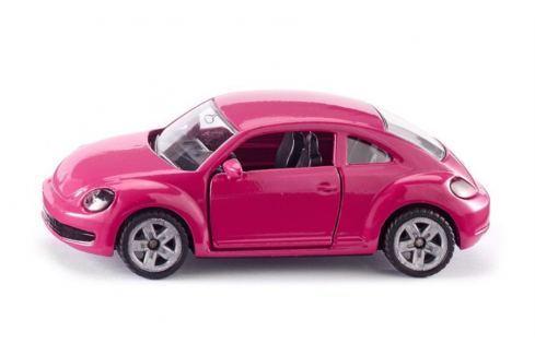 SIKU Blister - Volkswagen Beetle růžový s polepkama SIKU modely