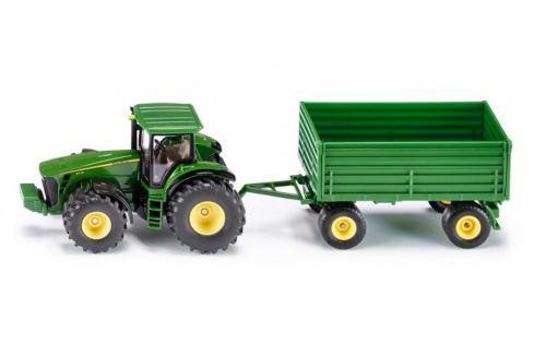 SIKU Farmer - traktor John Deere s vlekem, 1:50 Auta, letadla, lodě