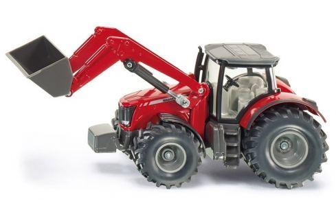 SIKU Farmer - Traktor Massey Ferguson s předním nakladačem auta