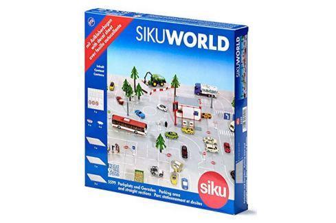 SIKU World 5599 Silnice s autobusovou zastávkou a parkovištěm SIKU modely