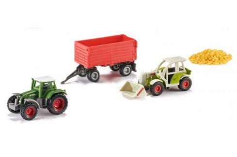 SIKU 6304 Sada: Traktory s vlečkou a nákladem SIKU modely