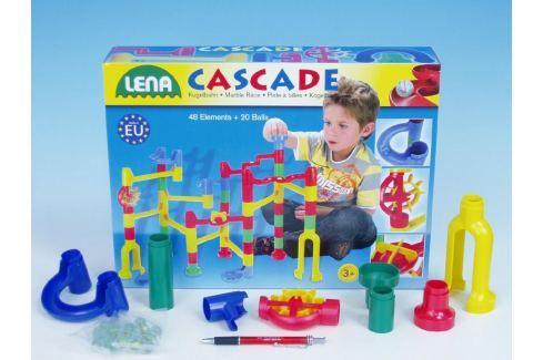 Lena Kuličková dráha 48ks + 20 kuliček v krabici 40x30x8,5cm stolní