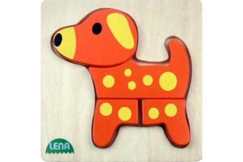 LENA - Dřevěné puzzle - pes Puzzle