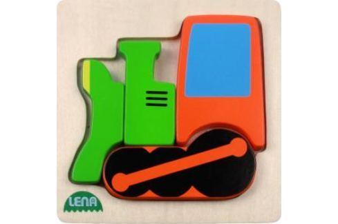 LENA - Dřevěné puzzle - lokomotiva Puzzle