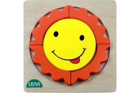 LENA - Dřevěné puzzle - Sluníčko Puzzle
