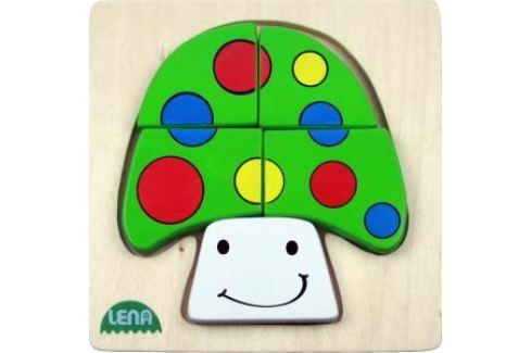 LENA - Dřevěné puzzle - Houba Puzzle