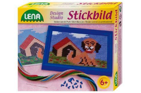 Lena Vyšívání obrázek pes 16x12cm v krabici šití a pletení