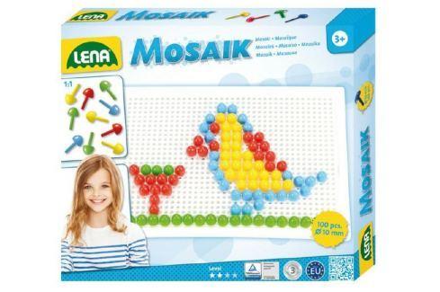 Lena Mozaika klobouček 1cm hladký 100ks v krabici mozaiky