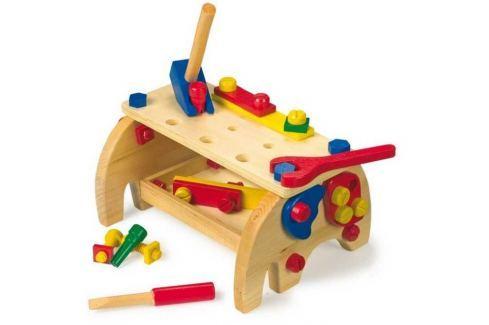 Dřevěné hračky - Ponk - Pracovní stůl Slon Dětské nářadí a nástroje