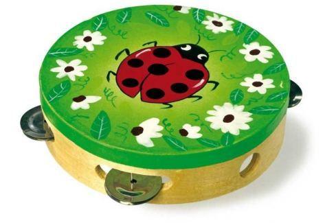 Dětské hudební nástroje - Tamburína Beruška hudební hračky