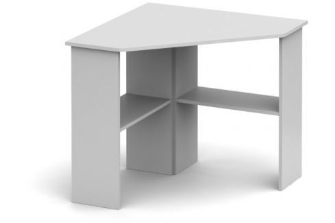 Tempo Kondela PC stůl, rohový, bílá, RONY NEW PC stoly